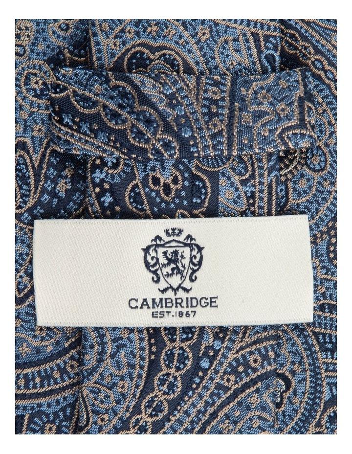Taupe Iris Paisley 7.5cm Silk Tie image 2