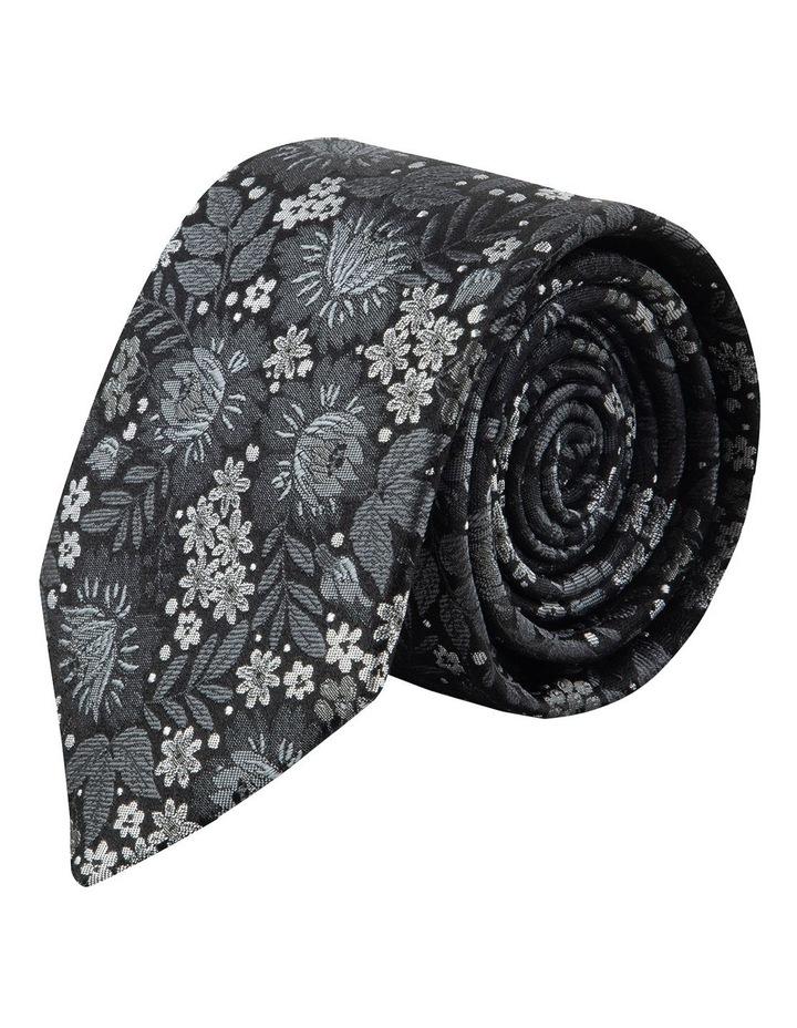 Black Bouquet 7.5cm Silk Tie image 1