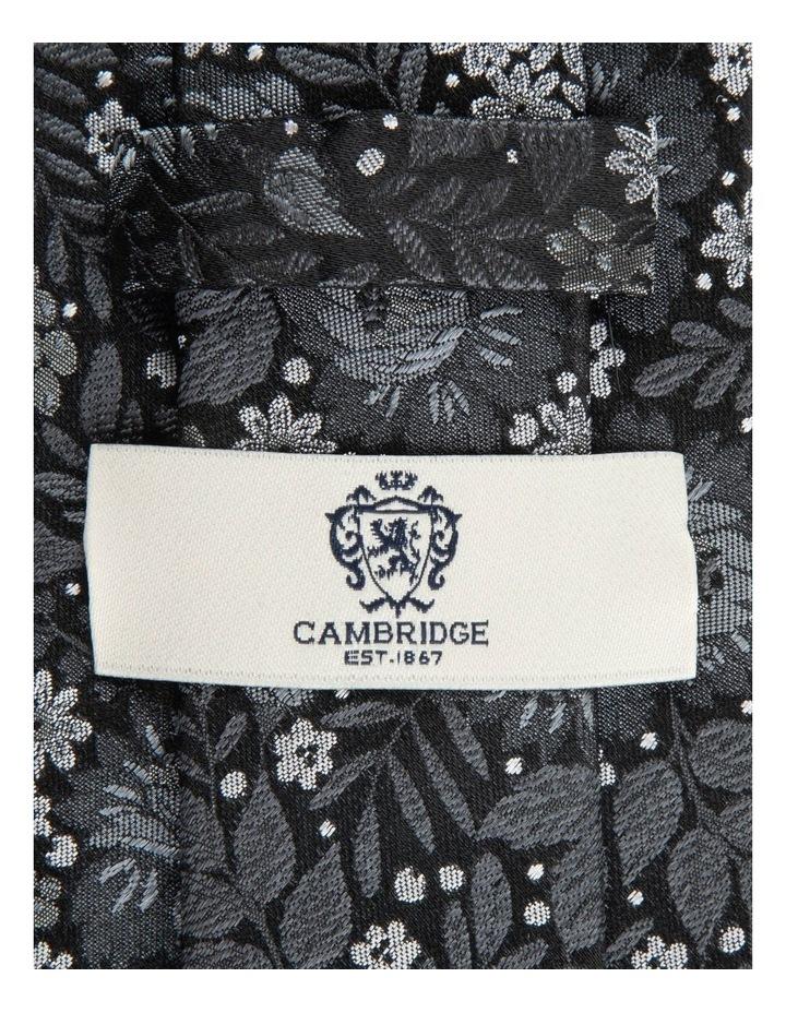 Black Bouquet 7.5cm Silk Tie image 2