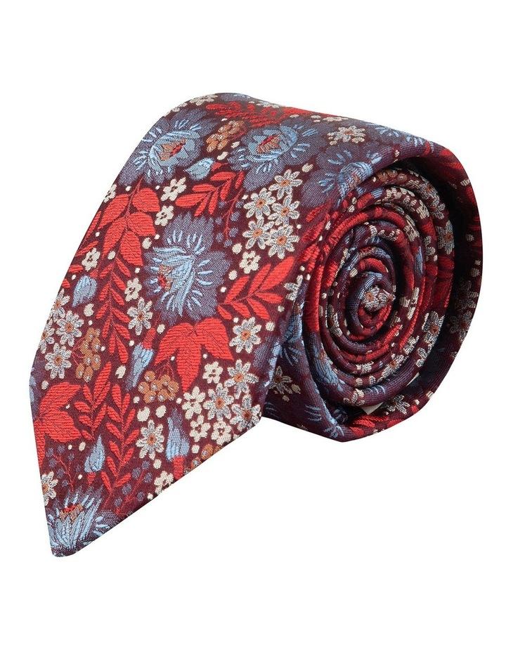 Red Bouquet 7.5cm Silk Tie image 1