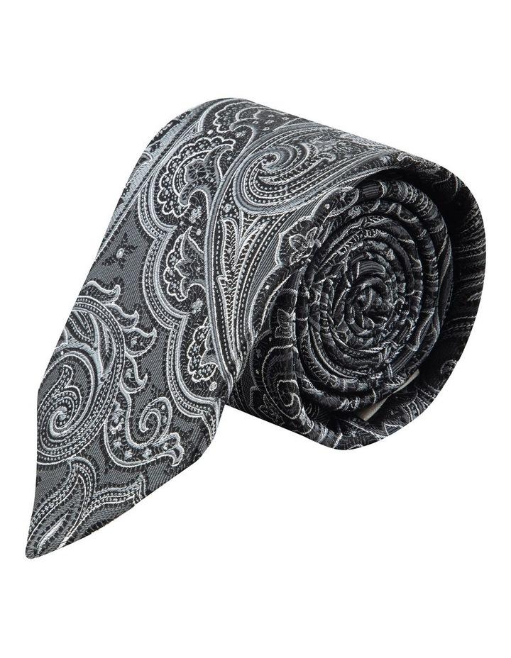 Black Flame Paisley 7.5cm Silk Tie image 1