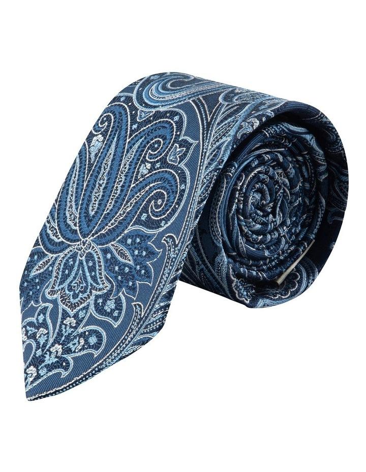 Blue Flame Paisley 7.5cm Silk Tie image 1