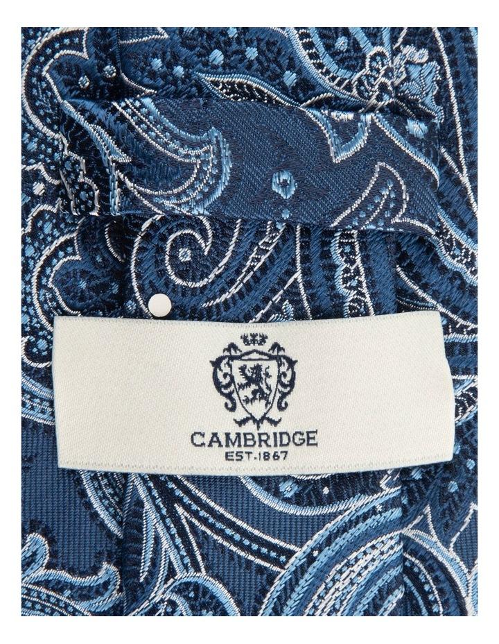 Blue Flame Paisley 7.5cm Silk Tie image 2