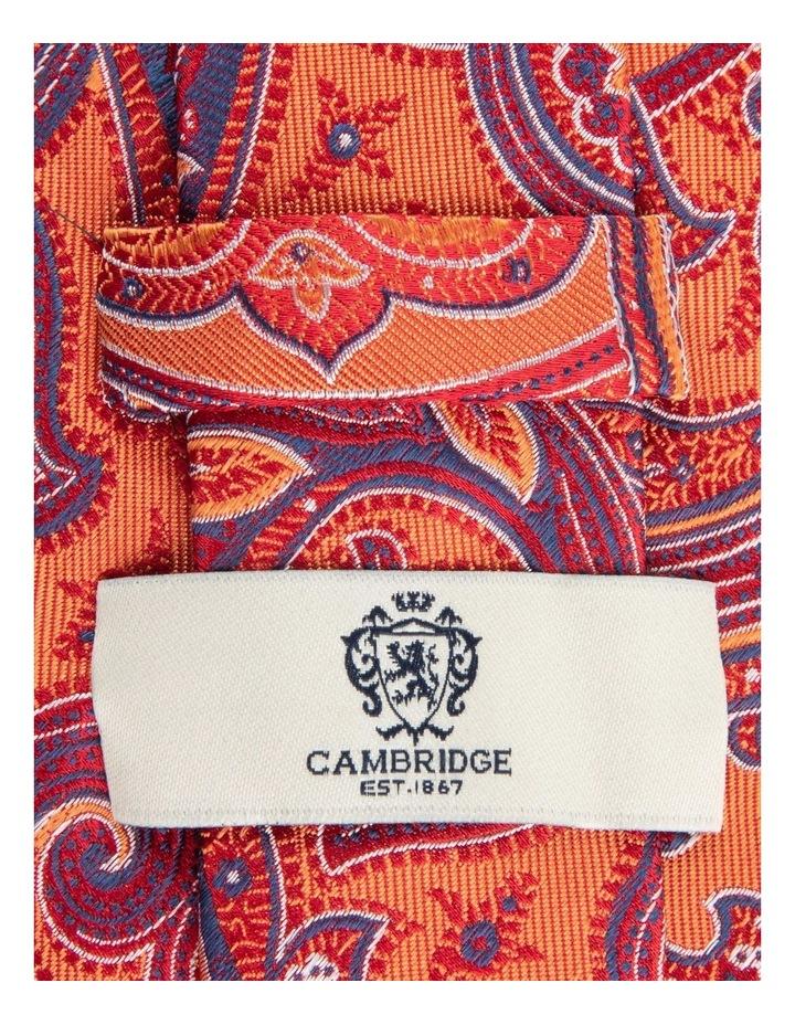 Orange Flame Paisley 7.5cm Silk Tie image 2