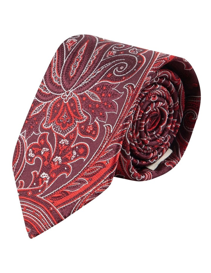 Red Flame Paisley 7.5cm Silk Tie image 1