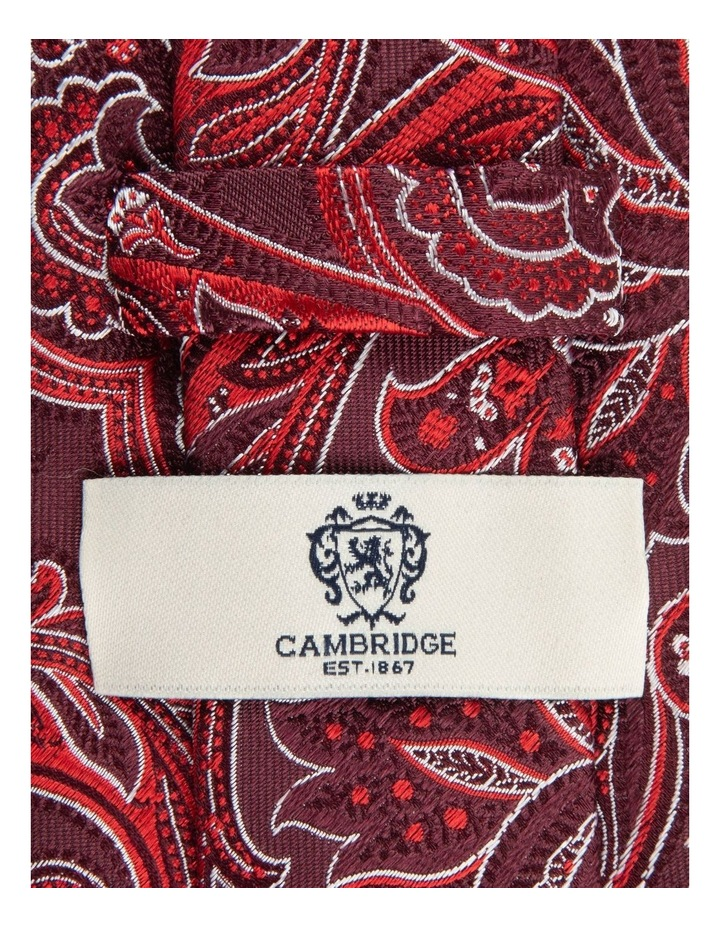 Red Flame Paisley 7.5cm Silk Tie image 2