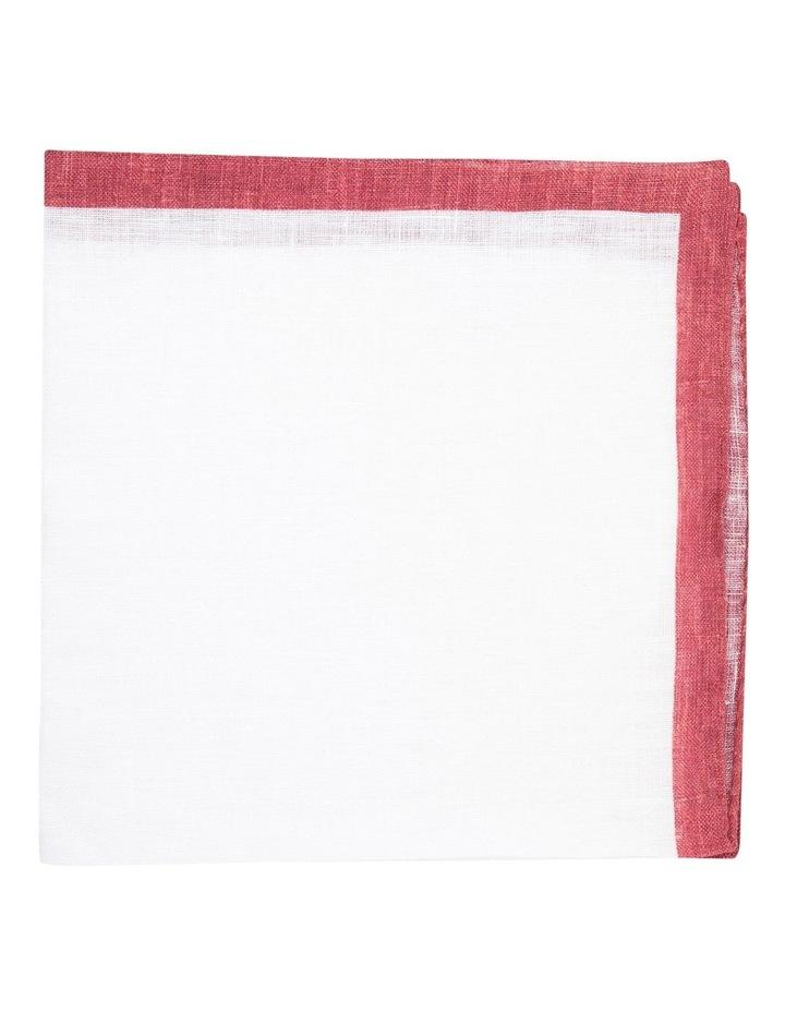 Berry Linen Edged Pocket Square image 1