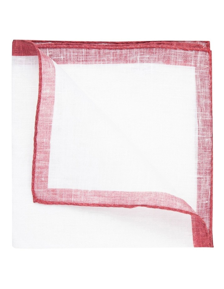 Berry Linen Edged Pocket Square image 2