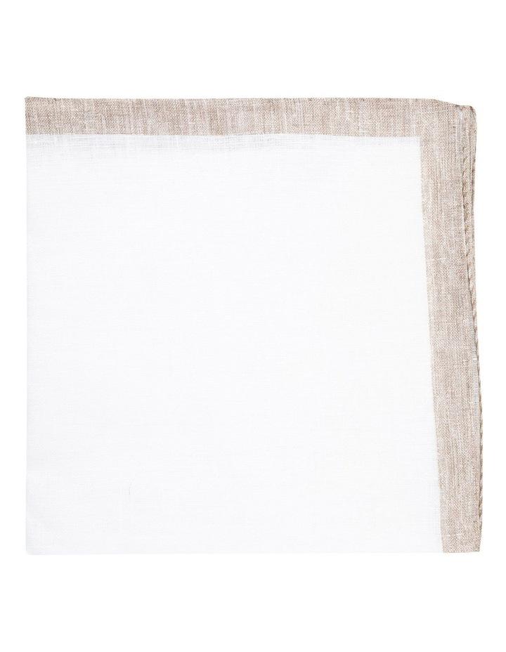Coffee Linen Edged Pocket Square image 1