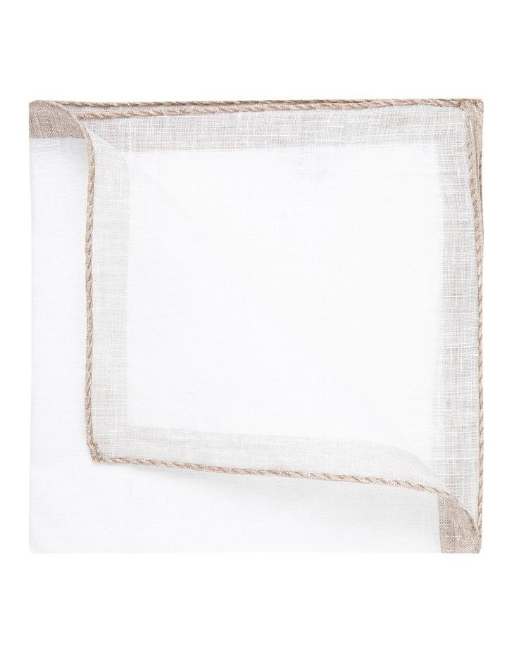 Coffee Linen Edged Pocket Square image 2