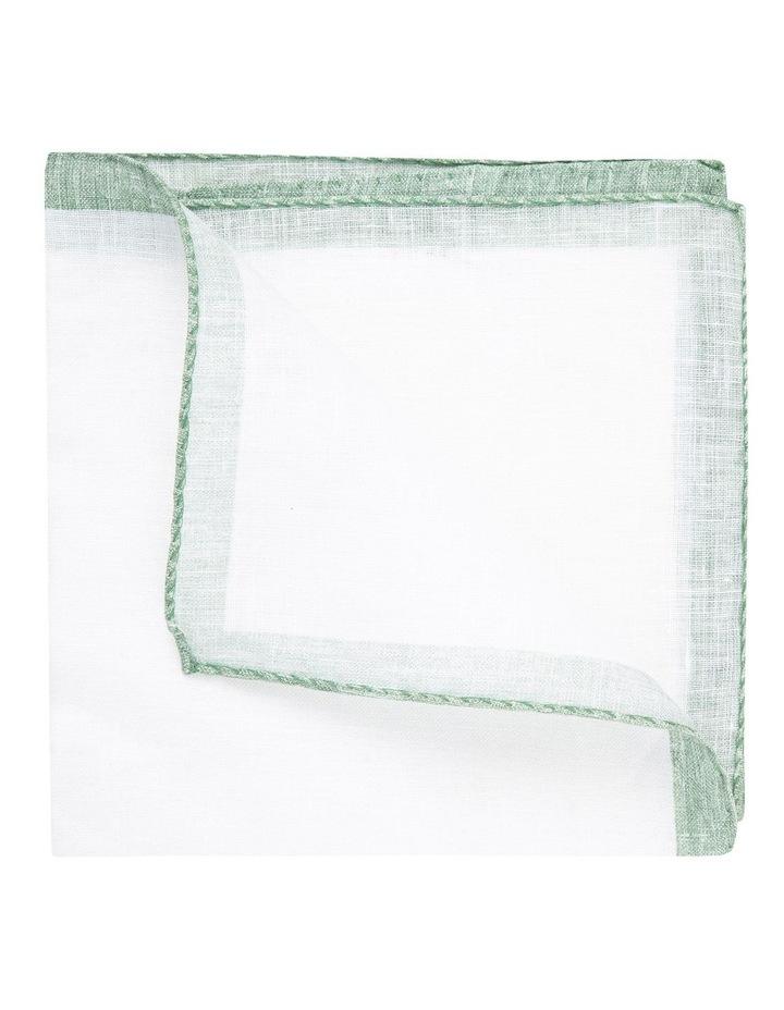 Sage Linen Edged Pocket Square image 2