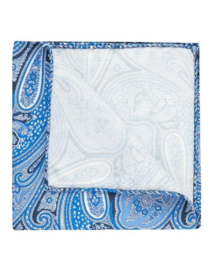 Blue Shappe Paisley Silk Pocket Square image 2