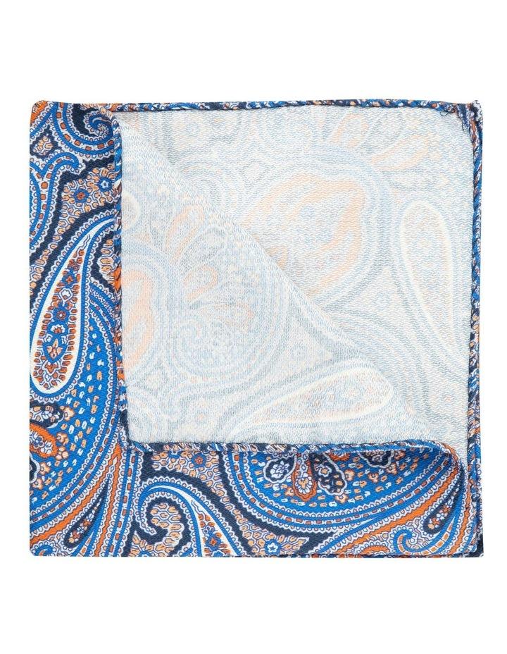 Orange Shappe Paisley Silk Pocket Square image 2