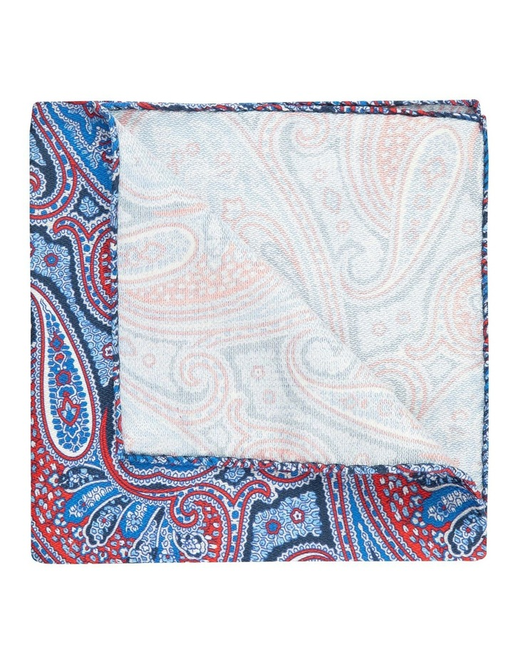 Red Shappe Paisley Silk Pocket Square image 2