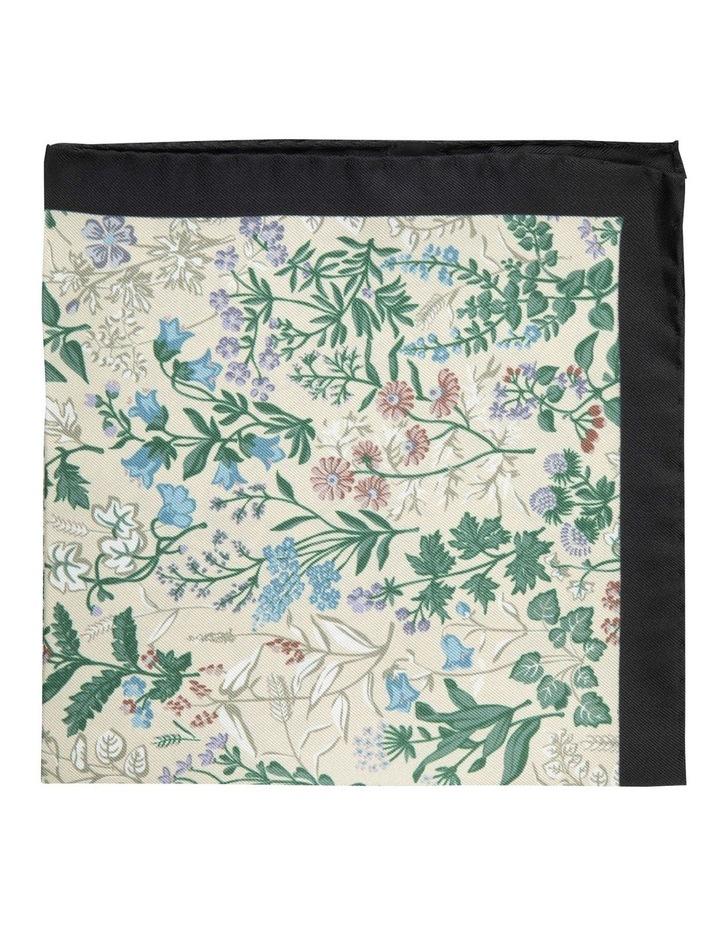 Taupe Botanica Silk Pocket Square image 1