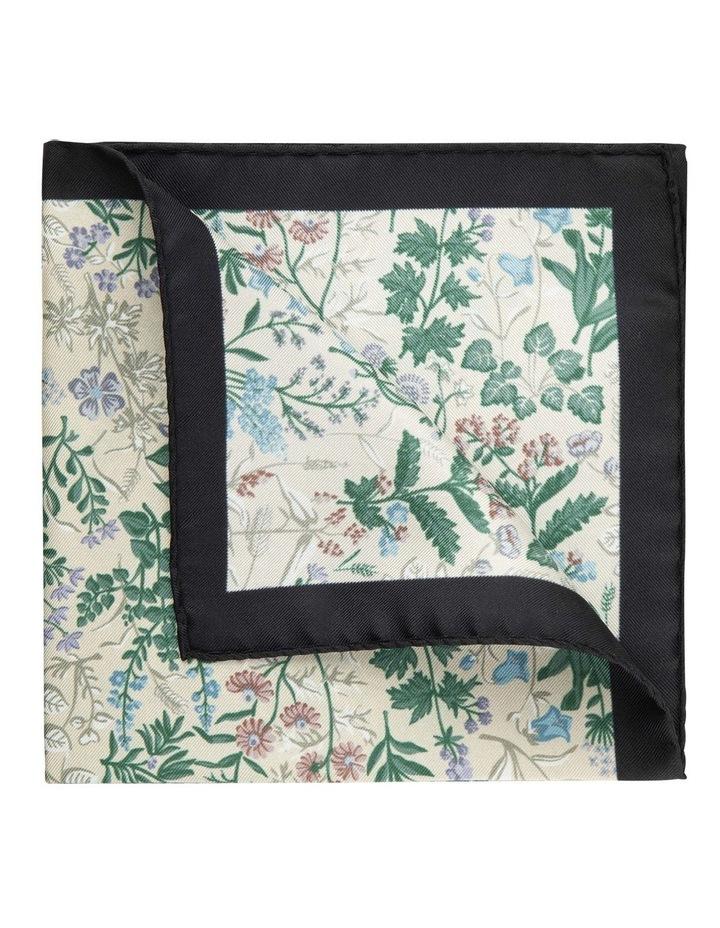 Taupe Botanica Silk Pocket Square image 2