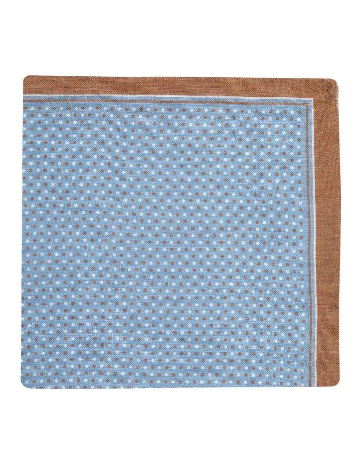 Coffee Linen Polkadot Pocket Square image 1
