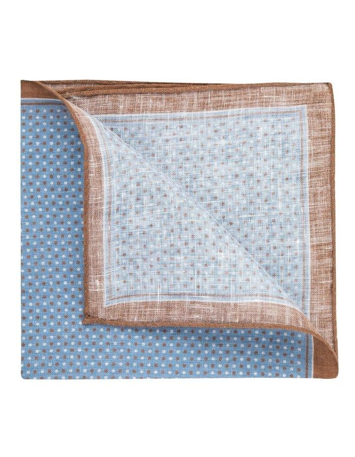 Coffee Linen Polkadot Pocket Square image 2