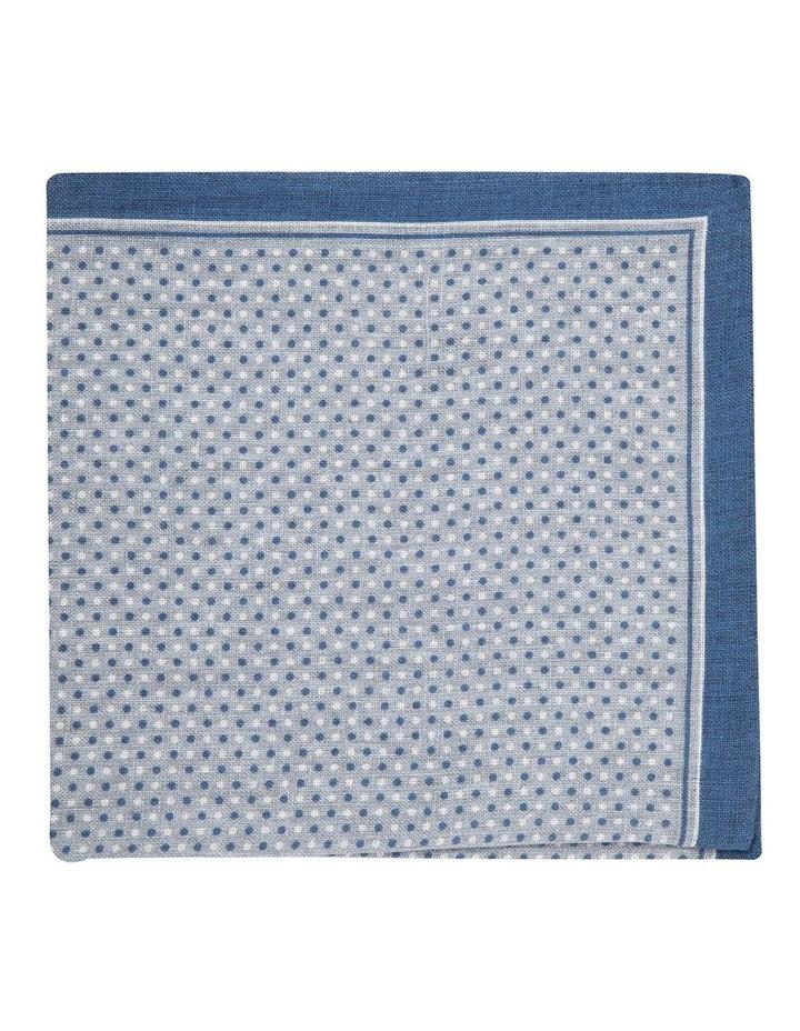 Grey Linen Polkadot Pocket Square image 1