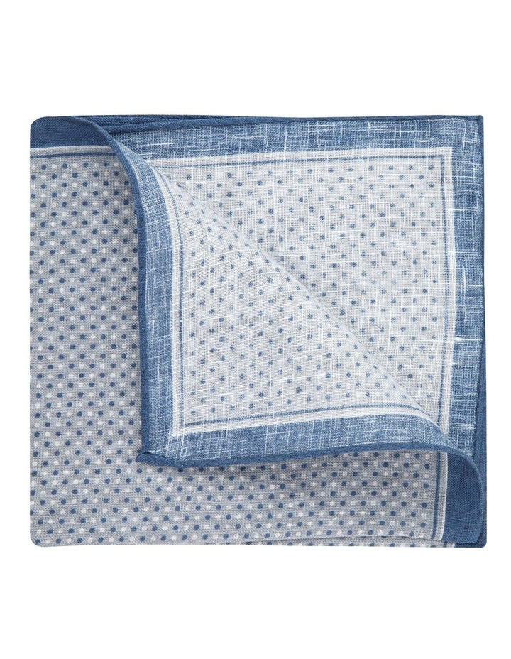 Grey Linen Polkadot Pocket Square image 2