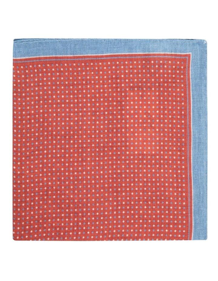Red Linen Polkadot Pocket Square image 1