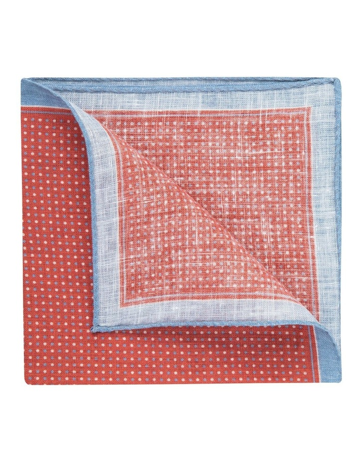 Red Linen Polkadot Pocket Square image 2
