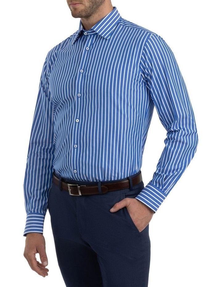 Modern Fit Brighton Mid Blue Stripe Business Shirt FCM310 image 2
