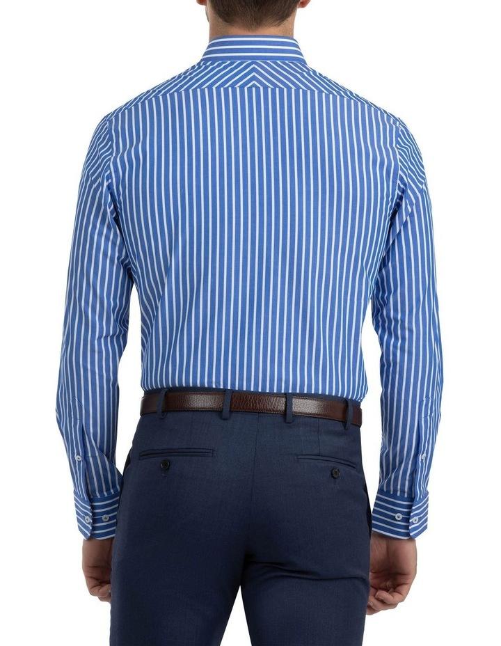 Modern Fit Brighton Mid Blue Stripe Business Shirt FCM310 image 3