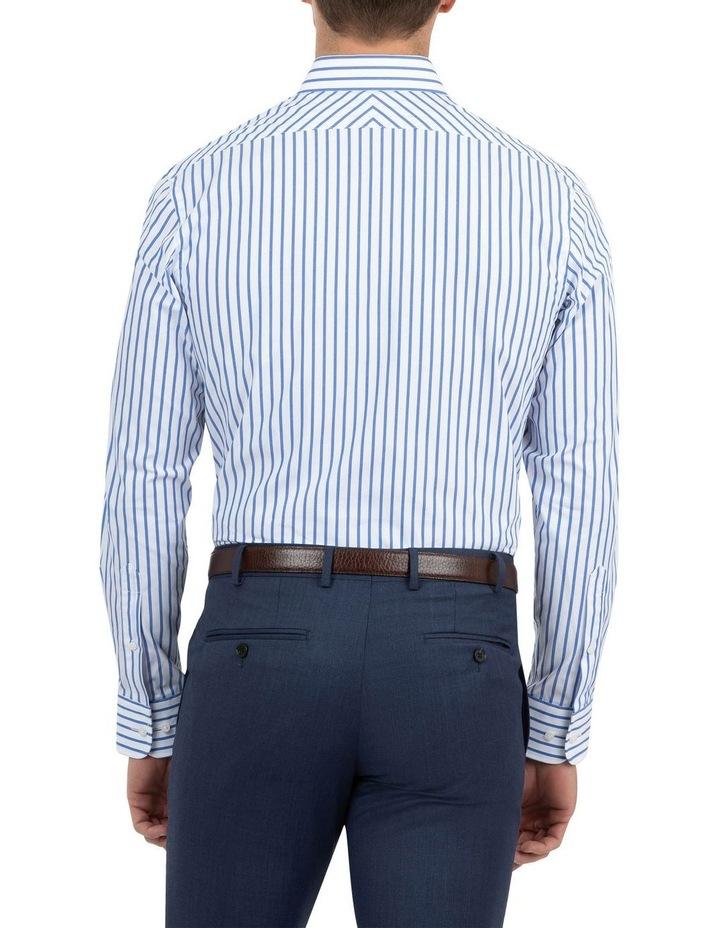 Modern Fit Brighton Mid Blue Stripe Business Shirt FCM312 image 3