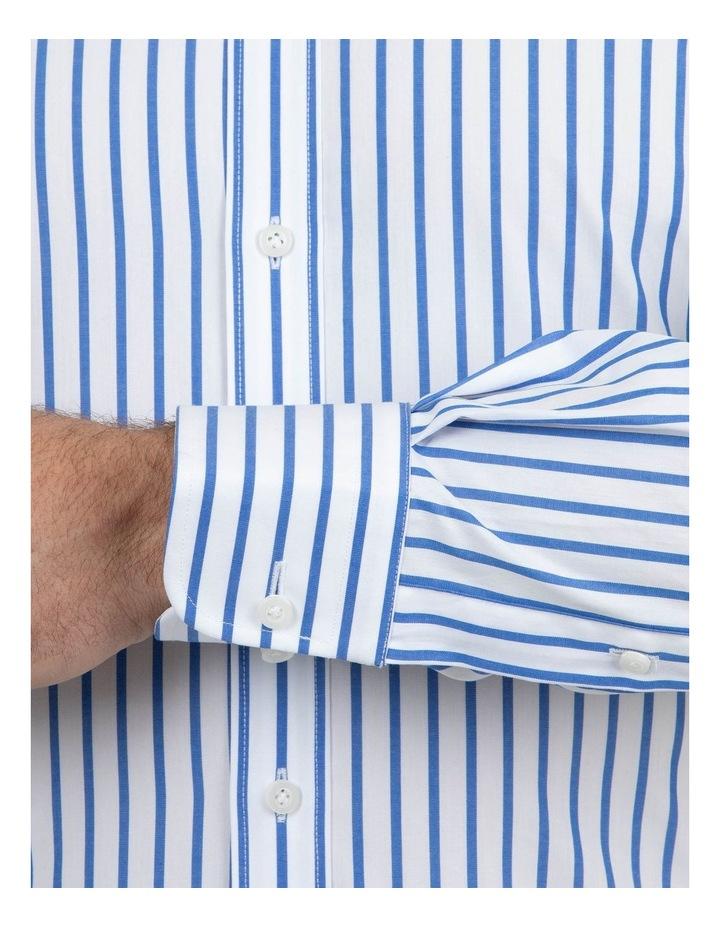Modern Fit Brighton Mid Blue Stripe Business Shirt FCM312 image 4