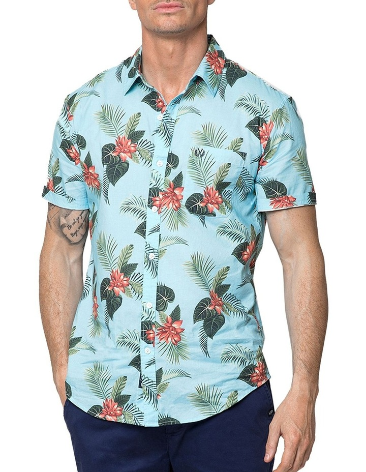 Hawaiian Floral Short Sleeve Shirt image 1