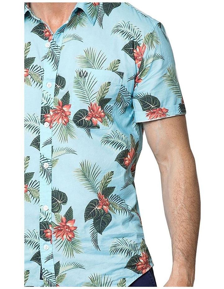 Hawaiian Floral Short Sleeve Shirt image 3