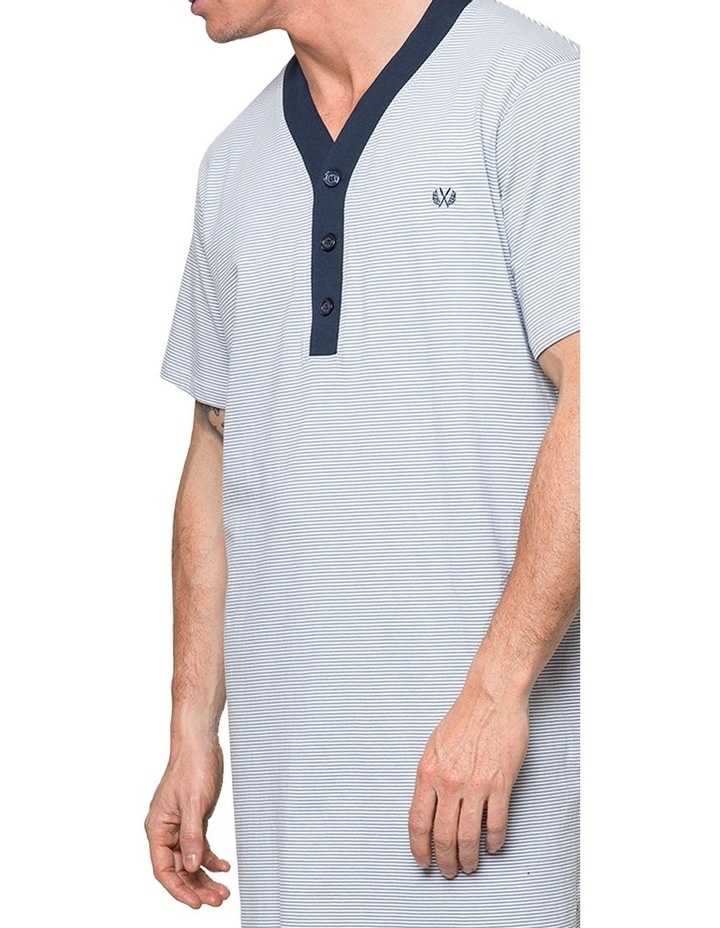 Grey Stripe Nightshirt Pyjama image 3