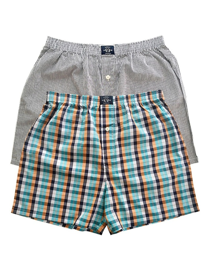 Two Pack Woven Multi Boxers image 1