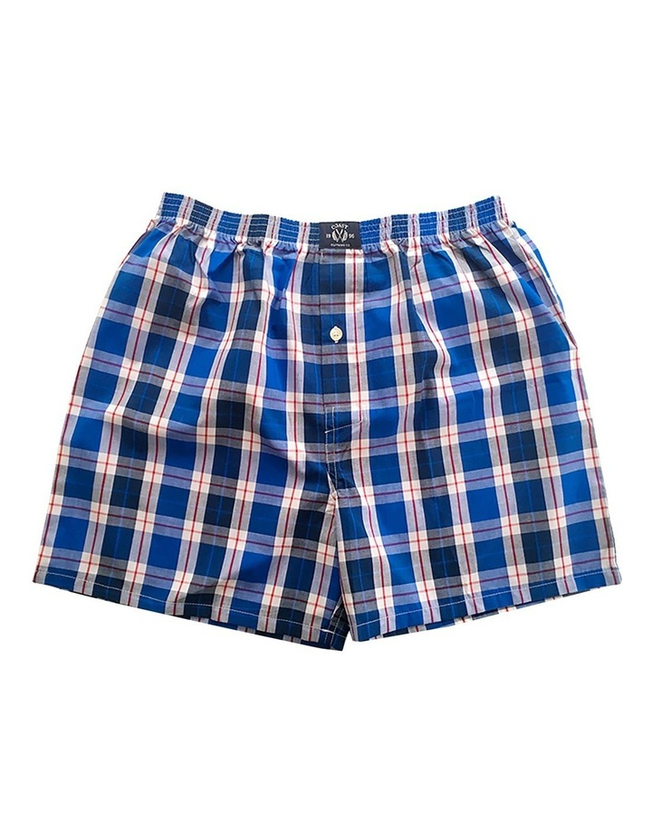 Two Pack Woven Blue Boxers image 2