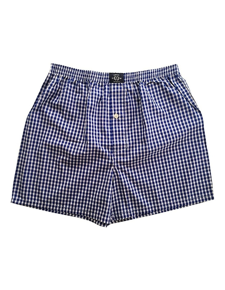 Two Pack Woven Blue Boxers image 3