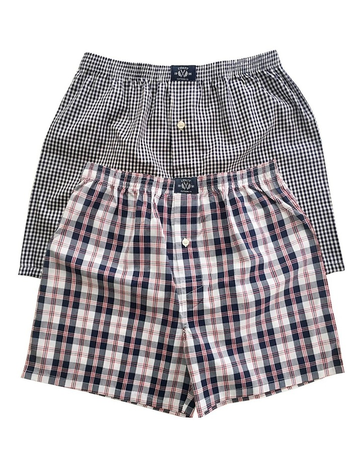 Two Pack Woven Grey Boxers image 1
