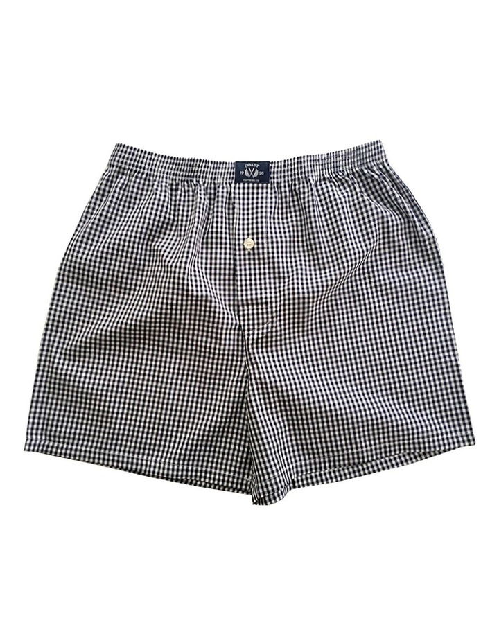 Two Pack Woven Grey Boxers image 3