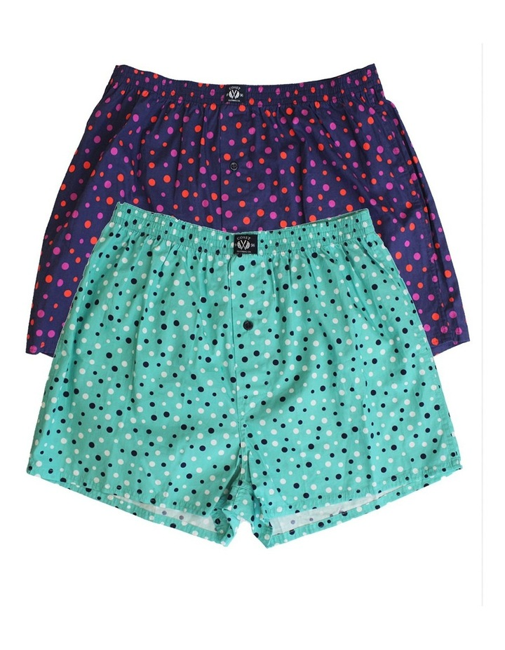 Two Pack Woven Spot Boxers image 1