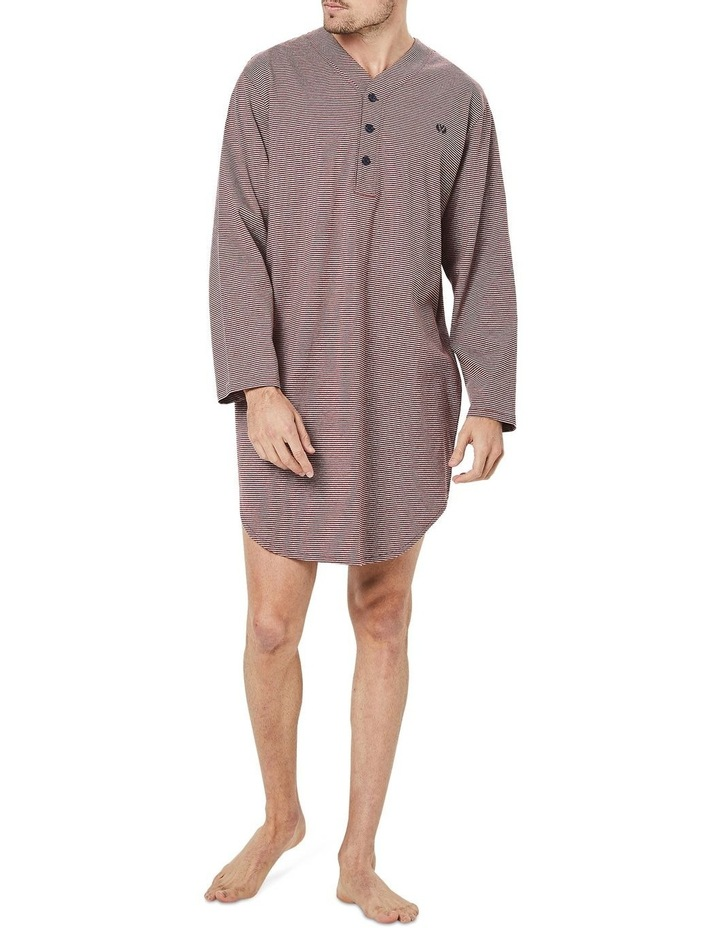 Long Sleeve Stripe Nightshirt image 1