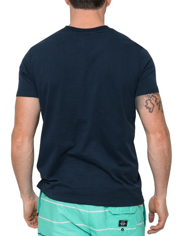 Essential V Neck Tee In Navy image 2
