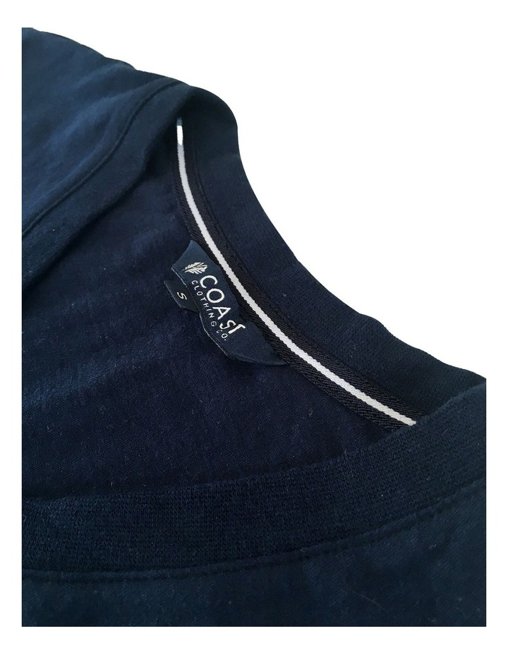 Essential V Neck Tee In Navy image 3