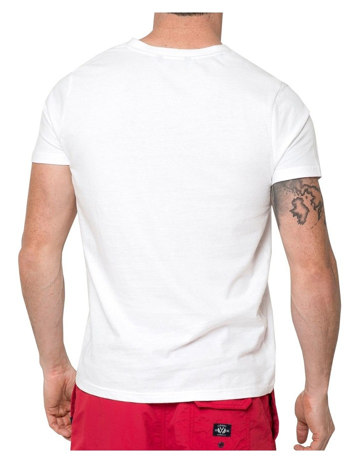Essential V Neck Tee In White image 2