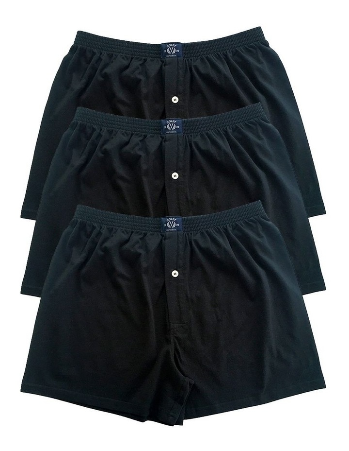 3 Pack Knit Boxers In Black image 1