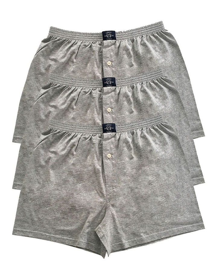 3 Pack Knit Boxers In Grey Marle image 1