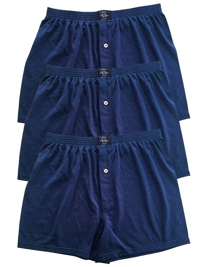 3 Pack Knit Boxers In Navy image 1