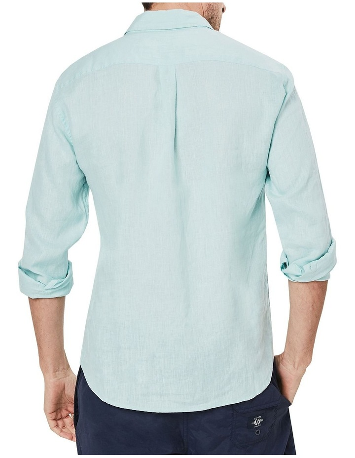 Long Sleeve Linen Shirt in Spearmint image 2