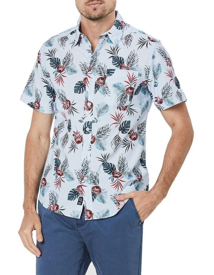 Short Sleeve Destination Printed Poplin Shirt image 1