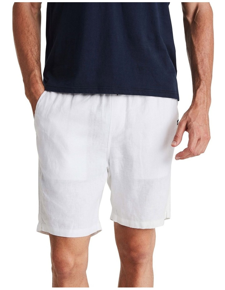 Linen Short in White image 1