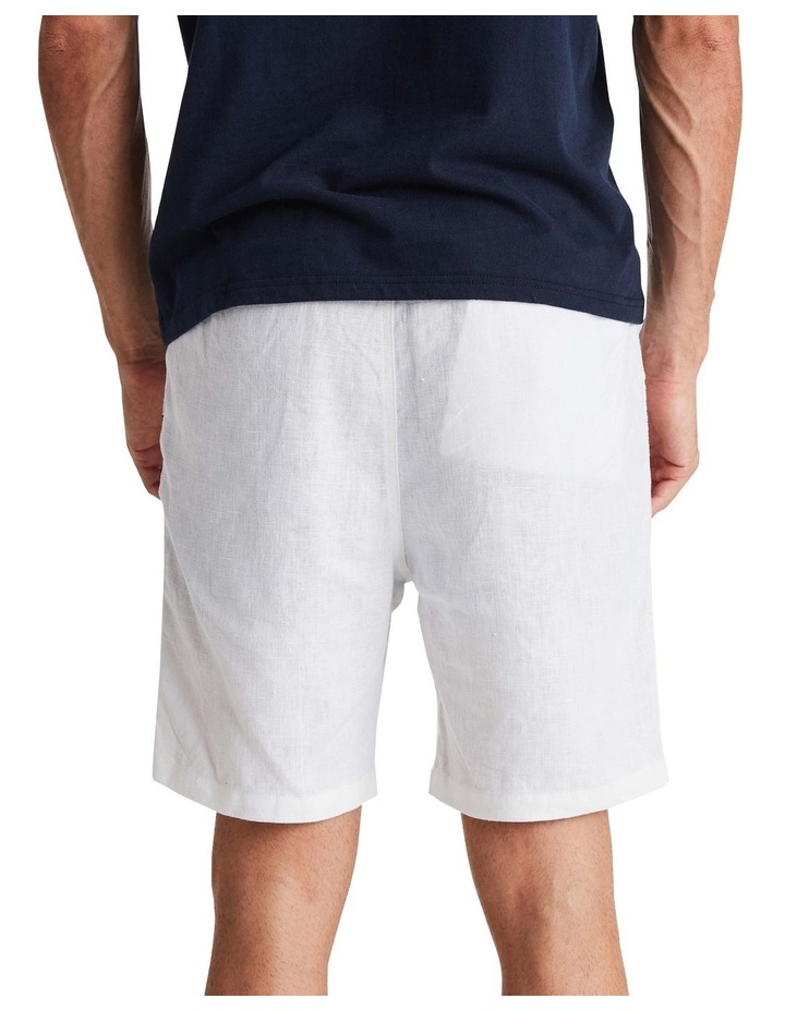 Linen Short in White image 3